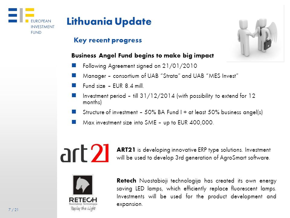Lithuania Update Key recent progress