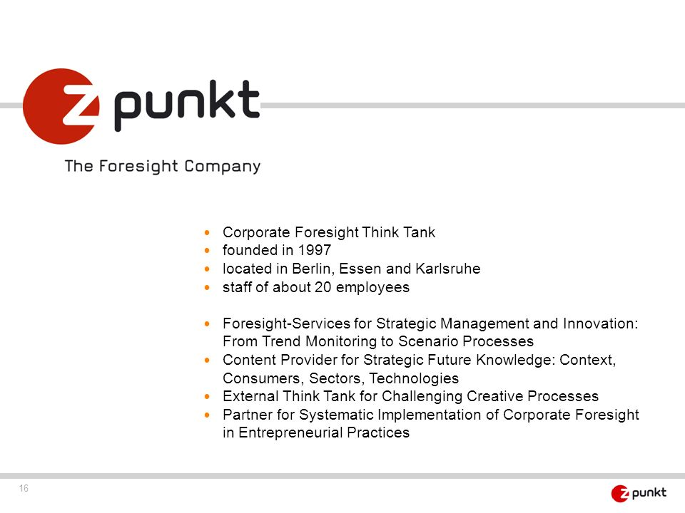 Corporate Foresight Think Tank