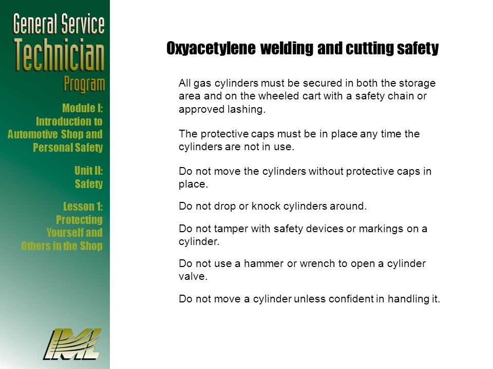 Oxyacetylene welding and cutting safety