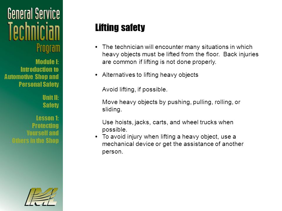Lifting safety