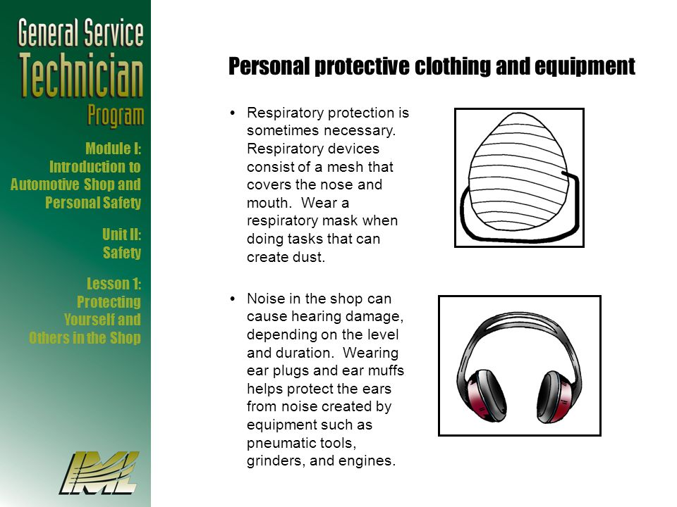 Personal protective clothing and equipment