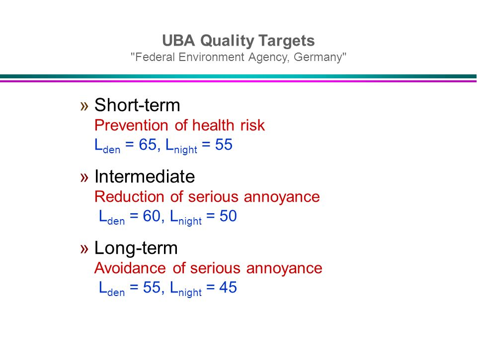 UBA Quality Targets Federal Environment Agency, Germany