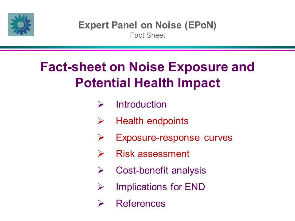Expert Panel on Noise (EPoN) Fact Sheet