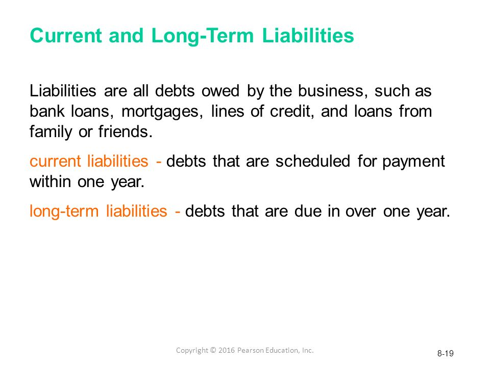 "current and long term liabilities Furthermore, gasb 34, paragraph 119 states ""information about long-term  liabilities should include both long-term debt and other long-term liabilities (such  as."