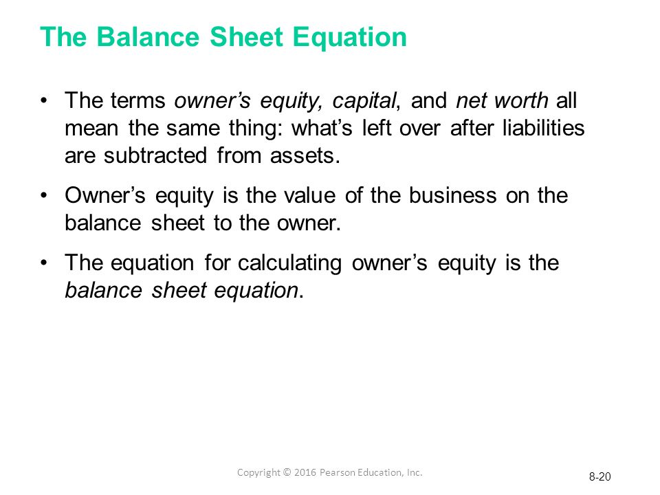 how to calculate net worth on balance sheet