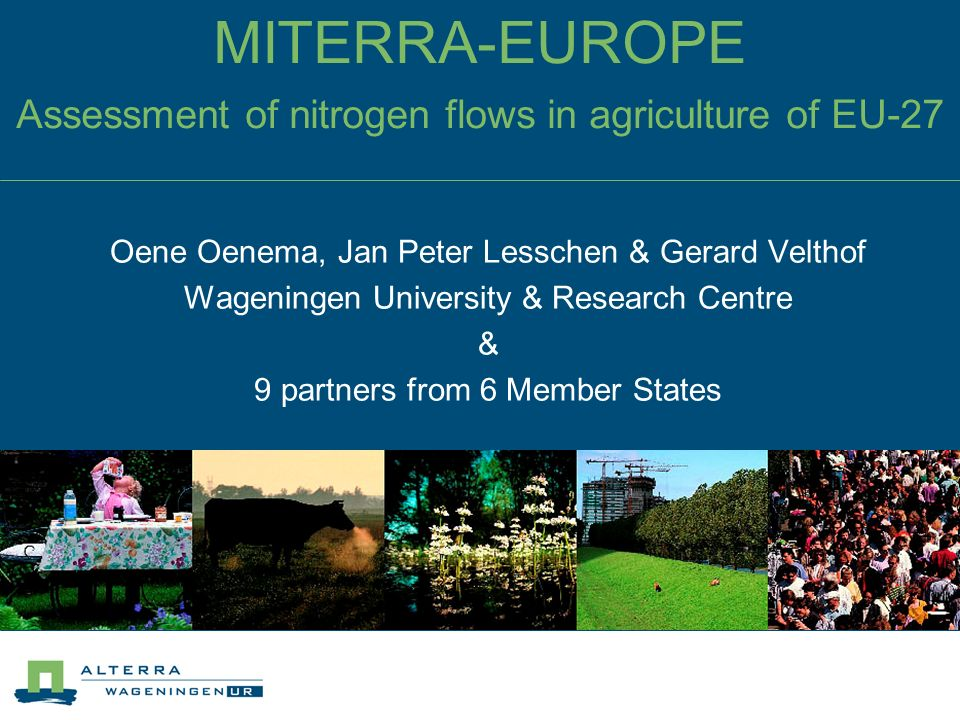 MITERRA-EUROPE Assessment of nitrogen flows in agriculture of EU-27
