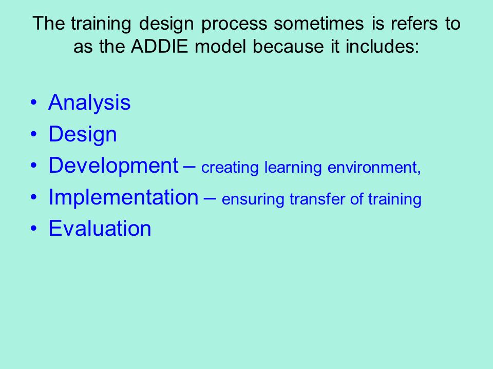 Training evaluation and the transfer of Term paper Sample