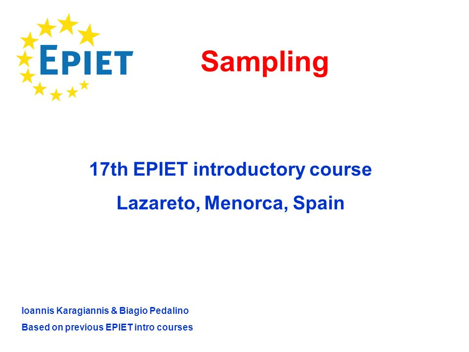 17th EPIET introductory course Lazareto, Menorca, Spain