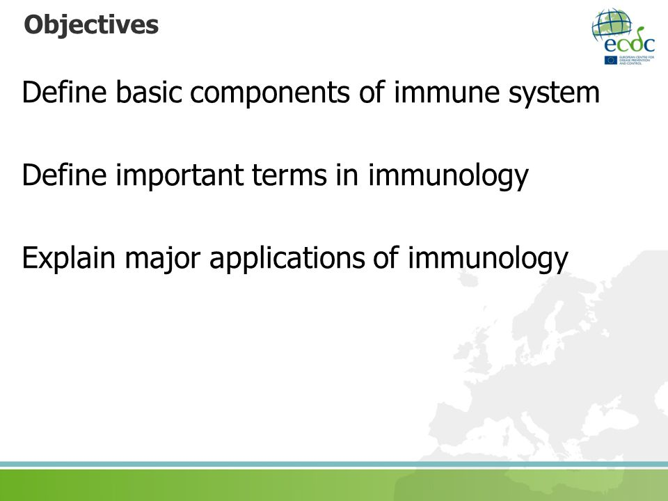 Define basic components of immune system