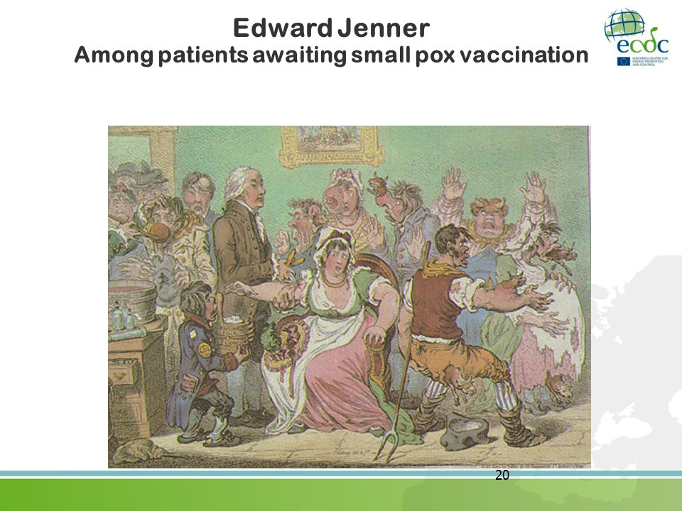 Edward Jenner Among patients awaiting small pox vaccination