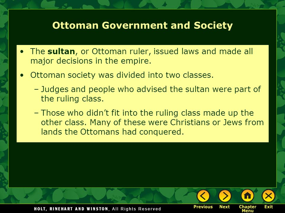 Ottoman Government and Society