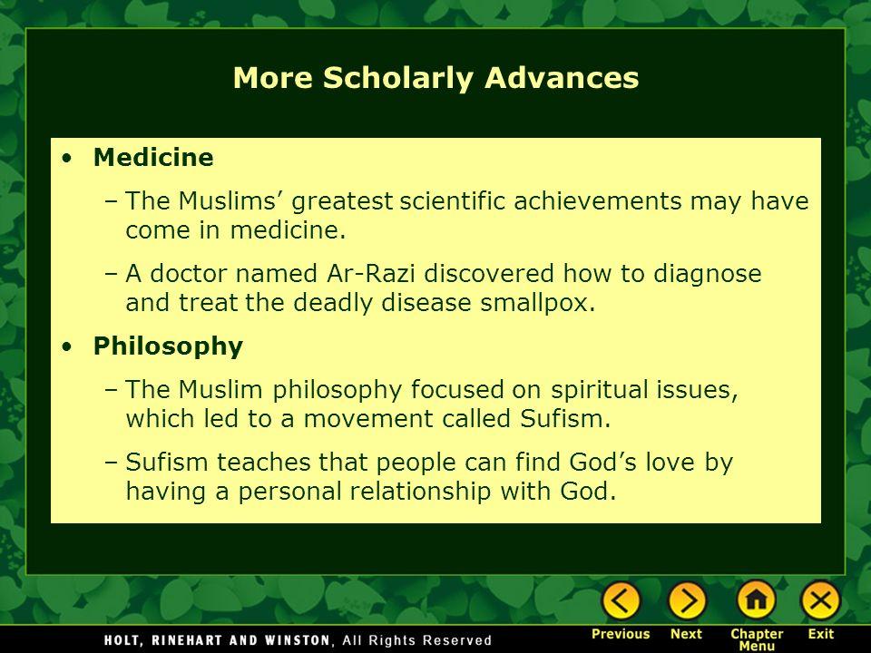 More Scholarly Advances