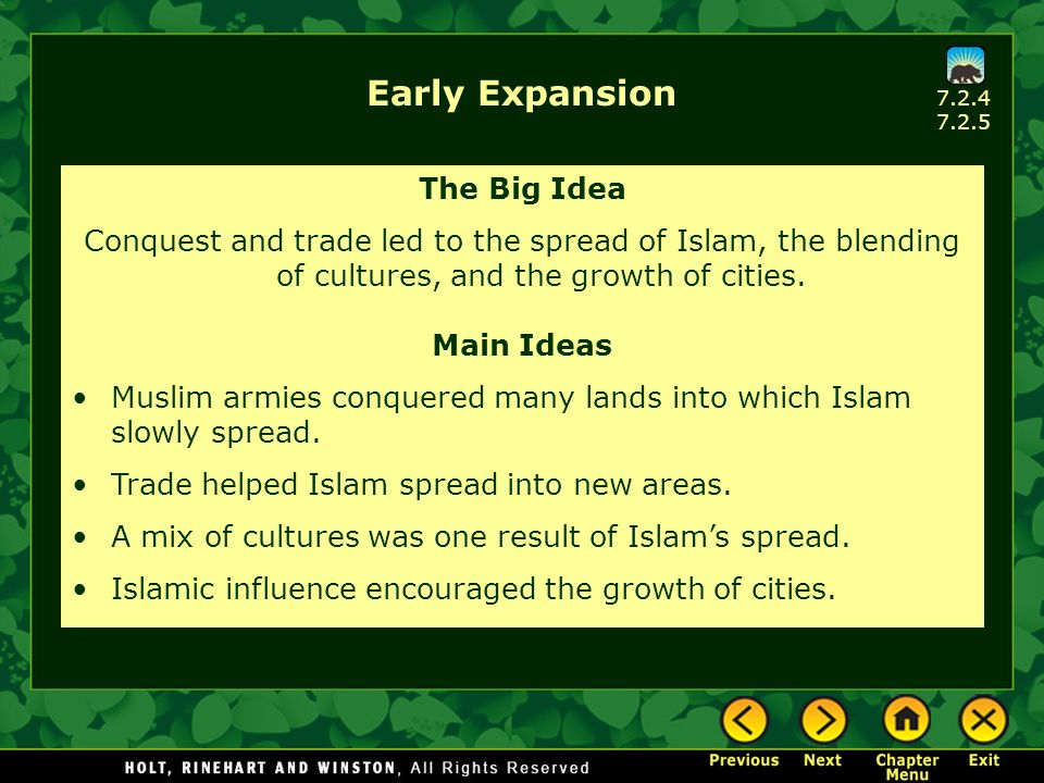 Early Expansion The Big Idea