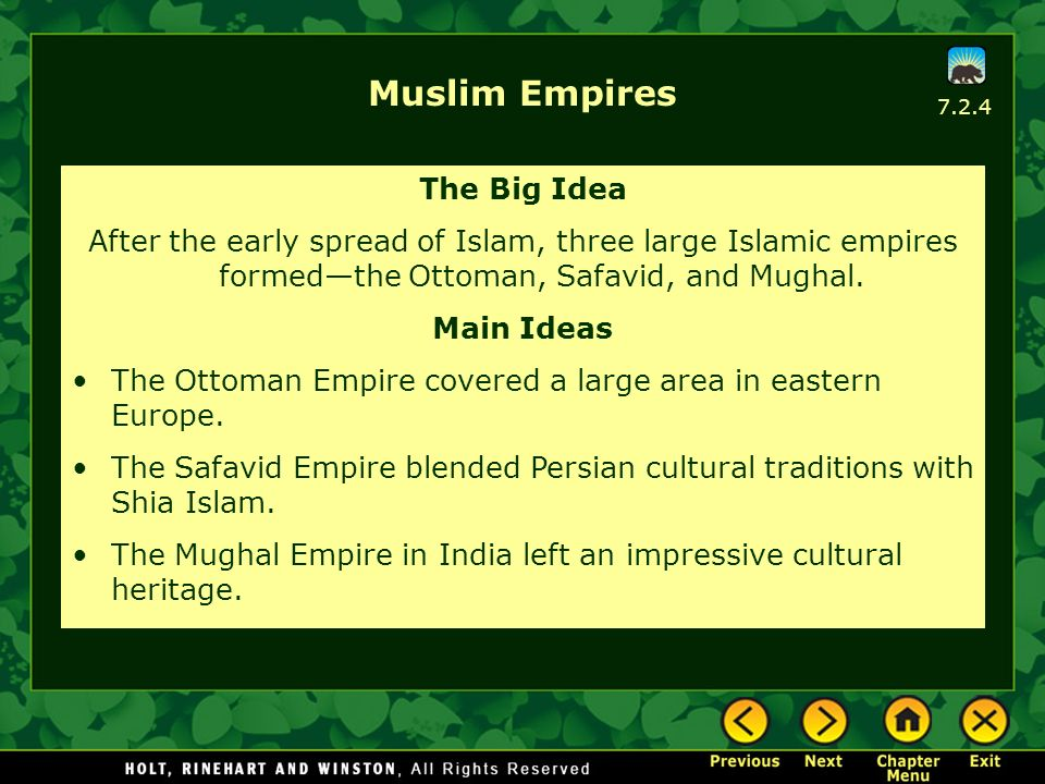 Muslim Empires The Big Idea