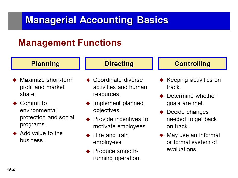 the basic functions of an accounting