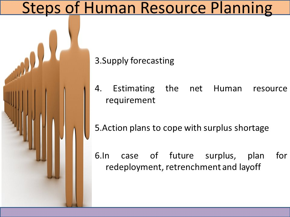Steps in the Human Resource Planning Process