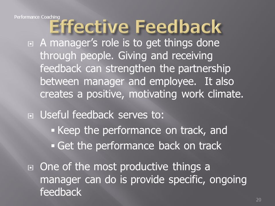 how to give positive feedback to my manager