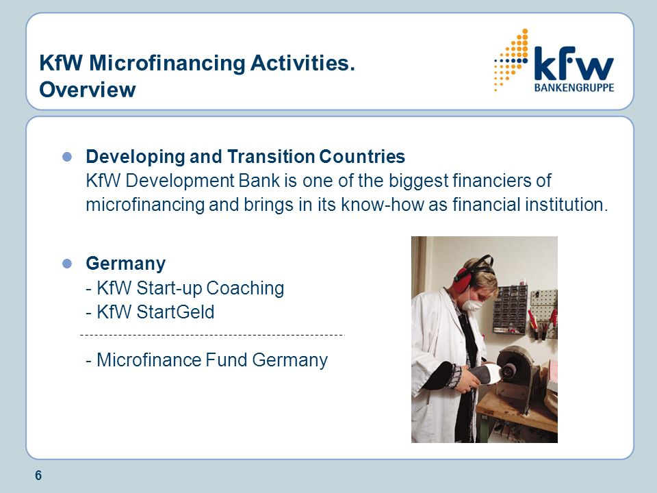 KfW Microfinancing Activities. Overview