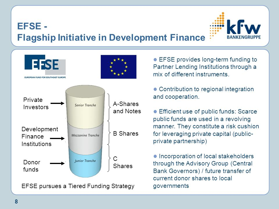 EFSE - Flagship Initiative in Development Finance