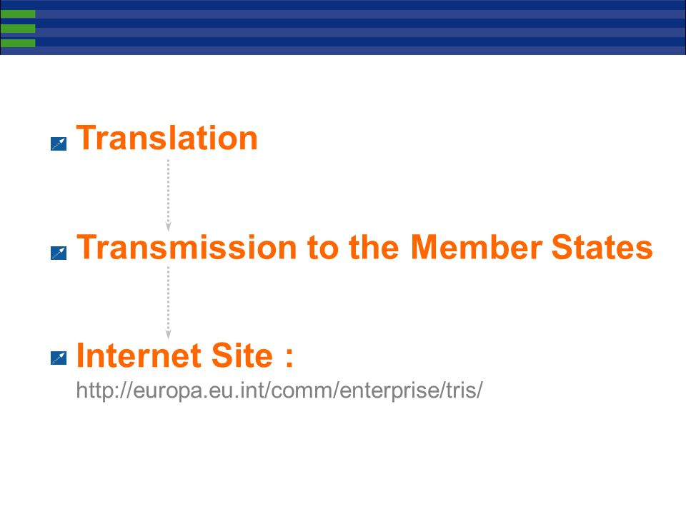 Translation Transmission to the Member States.