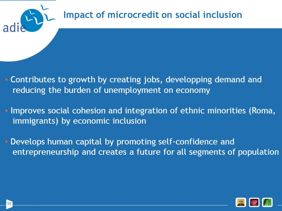 Impact of microcredit on social inclusion