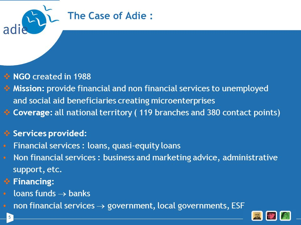 The Case of Adie : NGO created in 1988