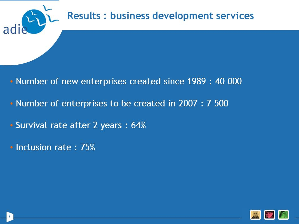 Results : business development services