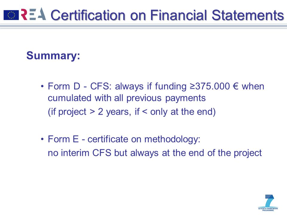Certification on Financial Statements
