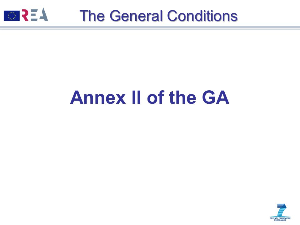 The General Conditions