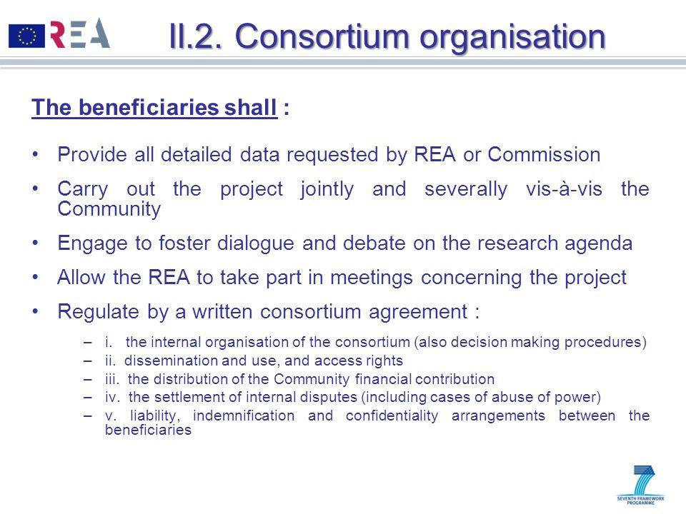 II.2. Consortium organisation