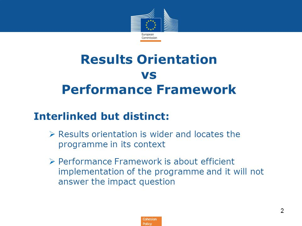 Results Orientation vs Performance Framework