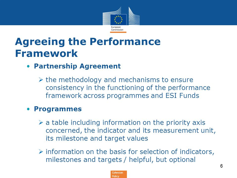 Agreeing the Performance Framework