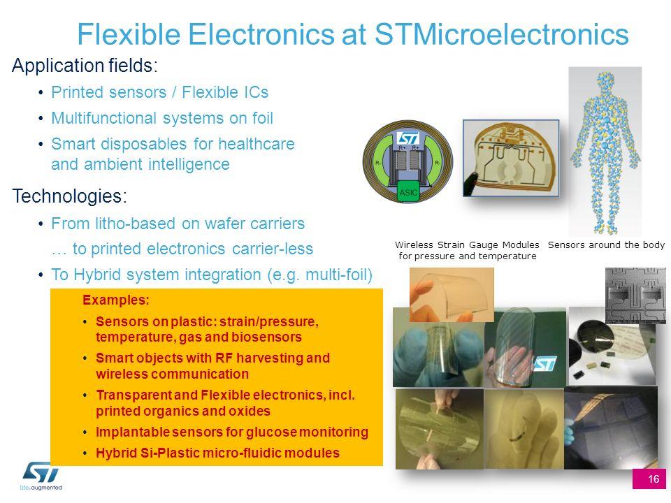 Flexible Electronics at STMicroelectronics