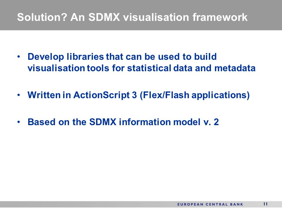 Solution An SDMX visualisation framework
