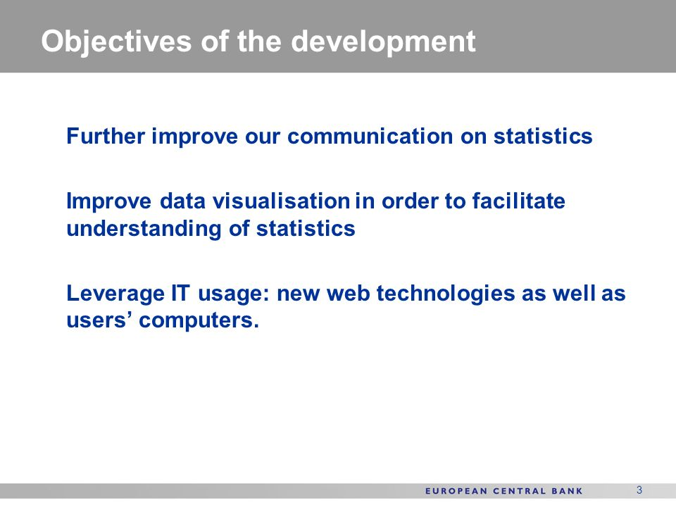 Objectives of the development