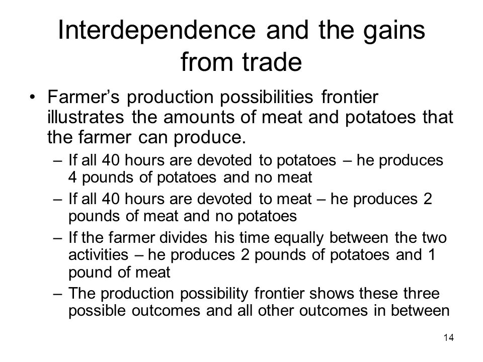 interdependence and the gains from trade Chapter 03_interdependence & gains from trade - download as powerpoint presentation (ppt), pdf file (pdf), text file (txt) or view presentation slides online.
