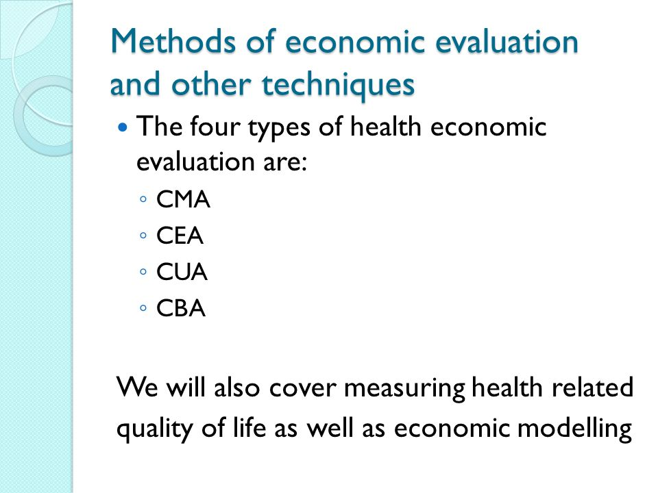 economic methods These methods can be  project selection methods  the following is a list of techniques used in benefit measurement methods: benefit/cost ratio economic.