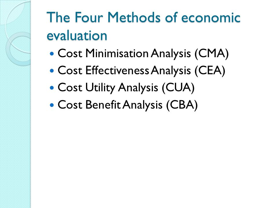 Cost utility analysis in healthcare definition
