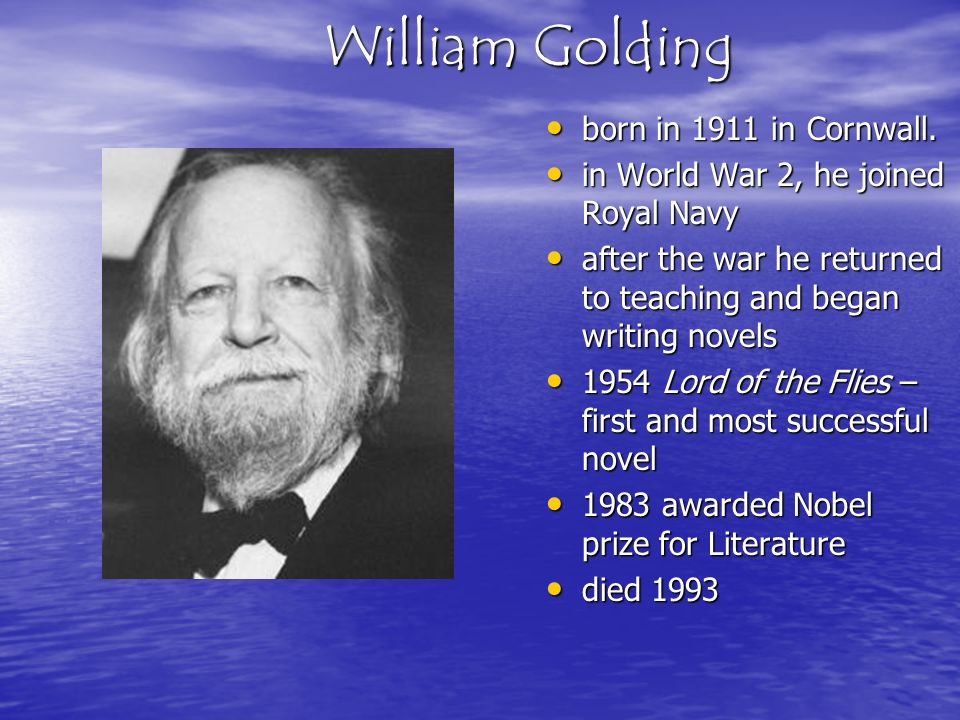 lord of the flies by william golding themes essay Themes in lord of the flies essay 682 words | 3 pages william goldning's lord of the flies is an allegorical novel where literary techniques are utilized to convey the main ideas and.