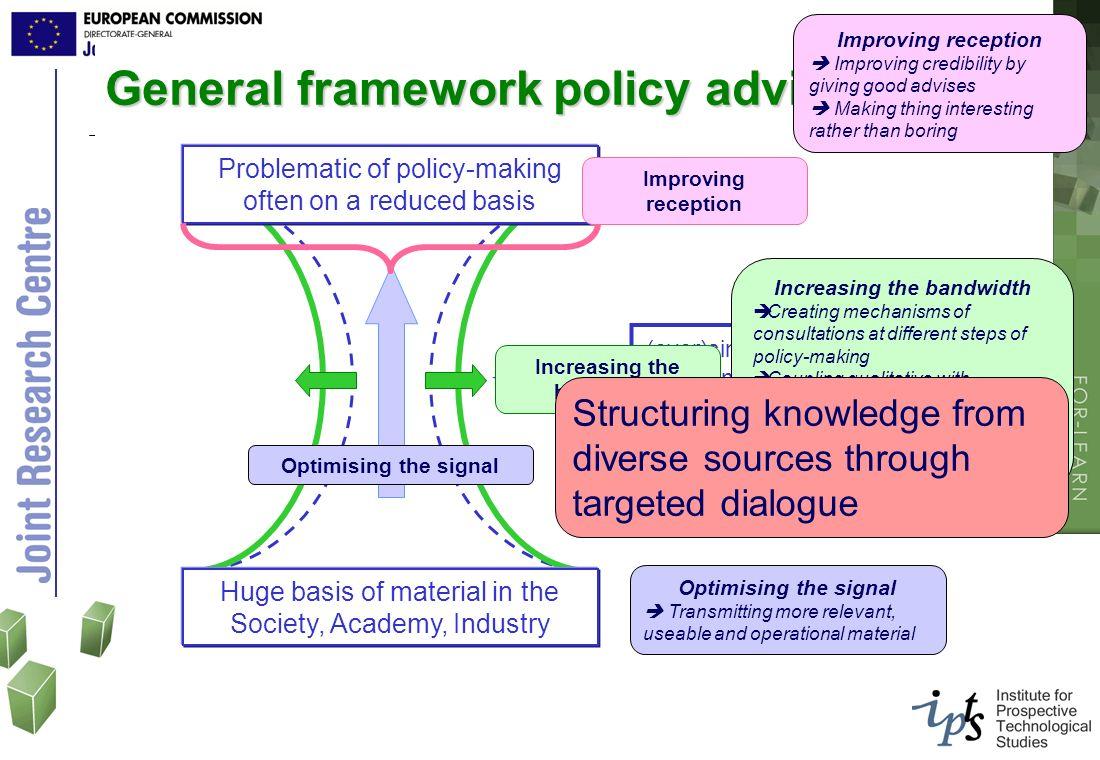 General framework policy advice