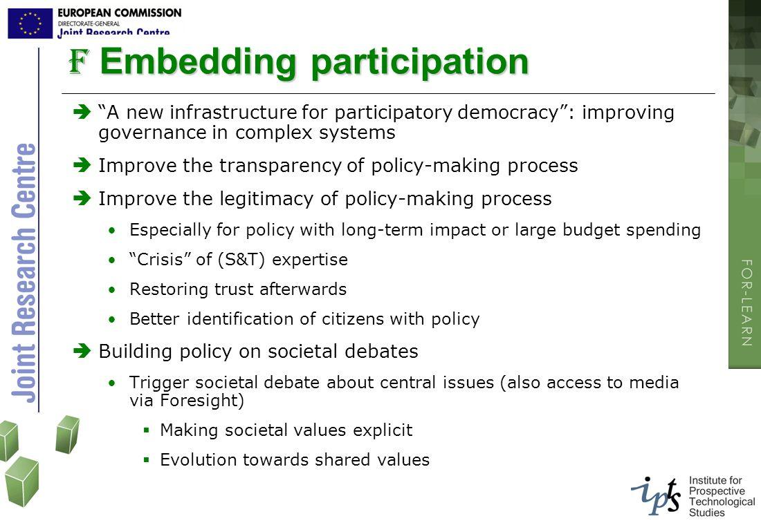 Embedding participation