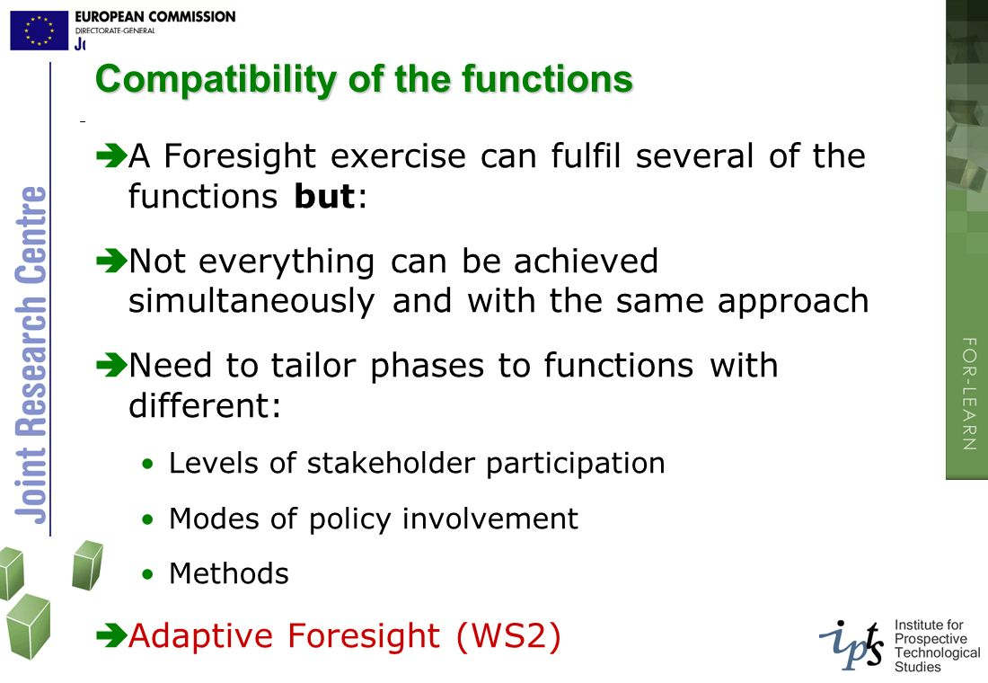 Compatibility of the functions