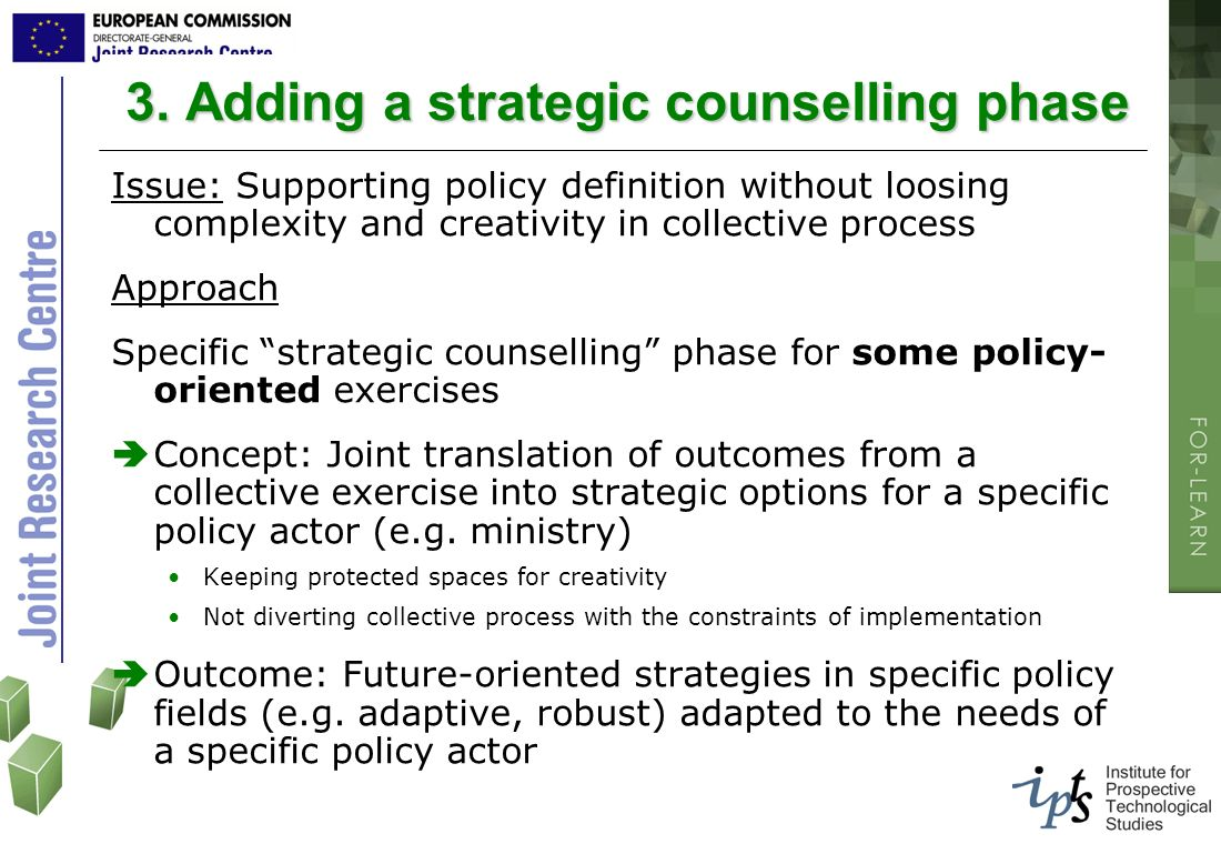 3. Adding a strategic counselling phase