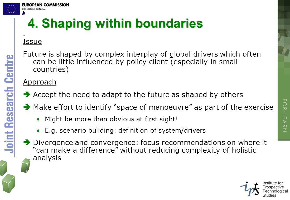 4. Shaping within boundaries