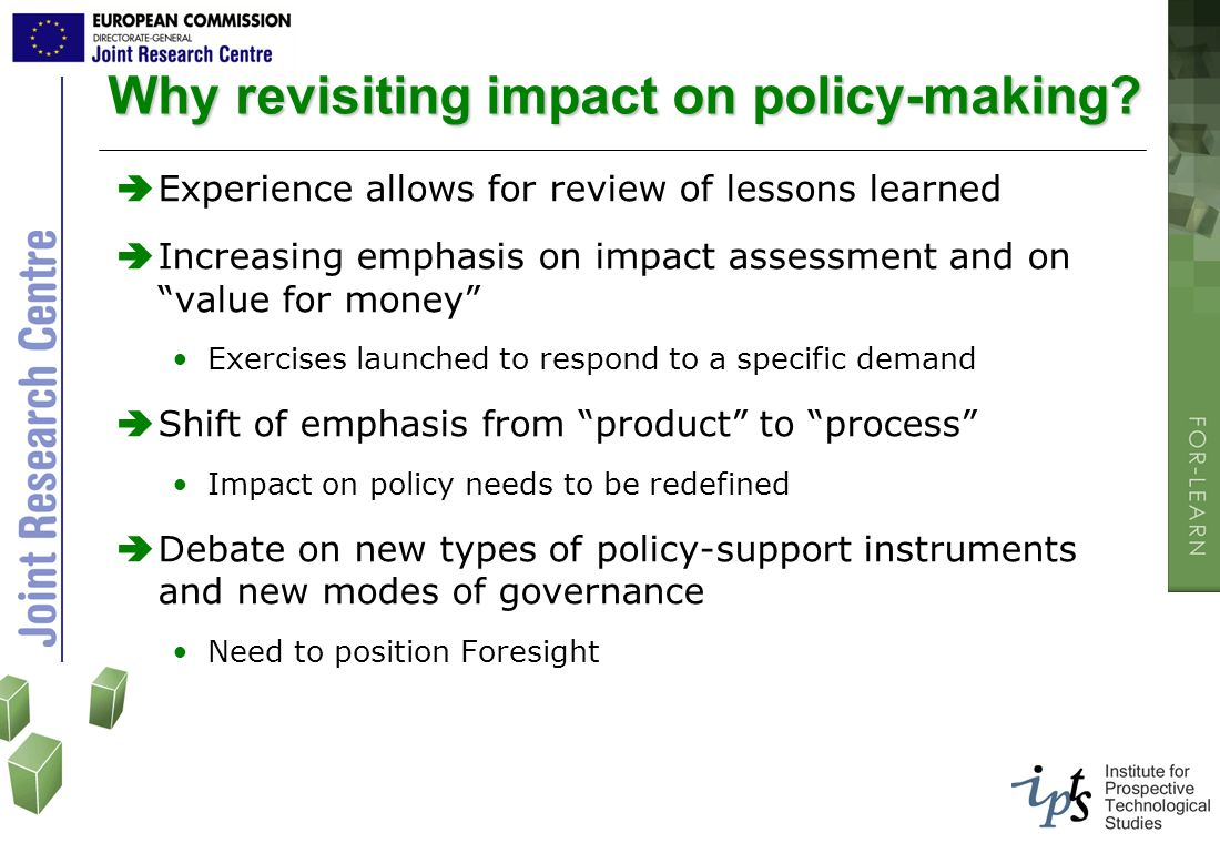 Why revisiting impact on policy-making
