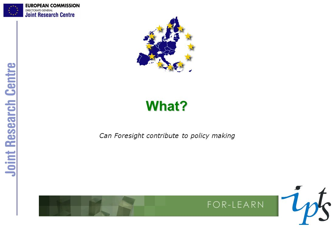 Can Foresight contribute to policy making