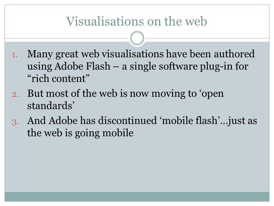 Visualisations on the web