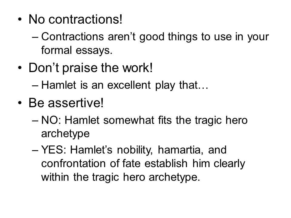 contractions in college essays Contractions are a way of using an apostrophe to splice two words into one   also, it is better to limit your use of contractions in college essays.