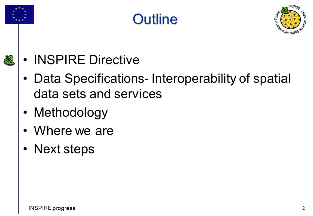 Outline INSPIRE Directive