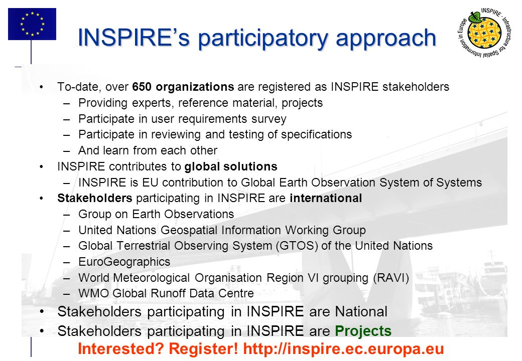 INSPIRE's participatory approach